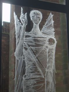 Engraved Angel, Coventry Cathedral, by Aidan McRae Thomson Coventry England, Coventry Homes, Coventry City, Coventry Cathedral, Norwich Cathedral, Sandblasted Glass, Etched Glass, Michael Church, Angeles