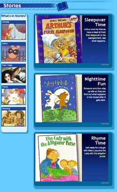 Online picture books read aloud
