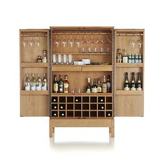 I would make some modifications to make this a cool wine glass and storage cabinet rather than a bar