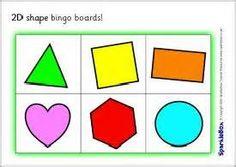 2D shape bingo boards (SB536) - SparkleBox
