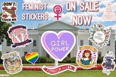 Feminist Sticker Pack | Liberal/Democratic | Social Justice | Girl Power    TO BUY: Click the link in our bio to shop directly.    Direct purchase link:   nerdkeepers.etsy.com    Options:   Design: Pack of 11 : CA$18.00  Design: Girl Power Heart: CA$2.00  Design: Cats Against Catcall: CA$2.00  Design: Gay Pride Heart: CA$2.00  Design: Cisphobia: CA$2.00  Design: Feminism Is Cool: CA$2.00  Design: Feminist Symbol: CA$2.00  Design: Don't Touch Me: CA$2.00  Design: Stop Body Shaming: CA$2.00…