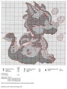 Bildresultat för dragon counted cross stitch patterns free