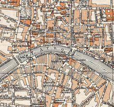 Pisa Vintage Street Map Italian city maps 1950