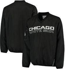 Chicago White Sox G-III Sports by Carl Banks Gridiron V-Neck Pullover Jacket - Black