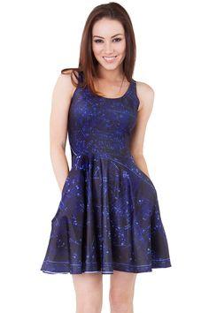 Constellation Pocket Skater Dress - $85.00 AUD