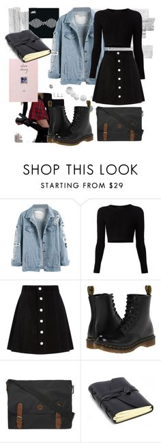 """""""In those knee socks..."""" by itiswhxtitiz ❤ liked on Polyvore featuring Cushnie Et Ochs, AG Adriano Goldschmied, Dr. Martens and Dorothy Perkins"""