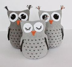 Educational and interesting ideas about amigurumi, crochet tutorials are here. Owl Crochet Patterns, Crochet Birds, Owl Patterns, Amigurumi Patterns, Crochet Animals, Free Crochet, Knit Crochet, Crochet Amigurumi, Amigurumi Free