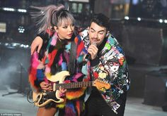 DNCE performs during New Year's Eve celebrations in Times Square on December 31, 2016 in New York