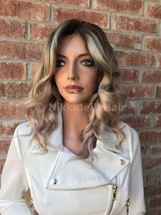 Ash Blonde Balayage Ombré Human Hair Multi Parting Full Lace Wig Black Hair Ombre, Long Black Hair, Ombre Hair Color, Short Hair Wigs, Long Wigs, Human Hair Wigs, Ash Blonde Balayage, Blonde Ombre, Blonde Hair