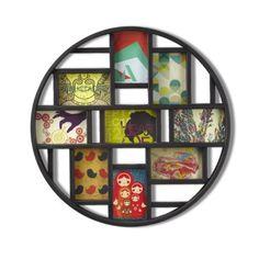 Amazon.com - Umbra Luna Nine-Opening Collage Frame/Wall Decor, Black - Round Picture Frame
