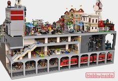 800 × 550 Pixel Source by afranzkrause Lego City Train, Lego Trains, Lego Modular, Lego Design, Casa Lego, Construction Lego, Lego Sculptures, Amazing Lego Creations, Lego Pictures