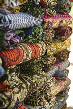 fabric, street corner, Kedougou, Senegal by angela7dreams