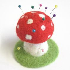 Needle Felted Toadstool Pin Cushion | Flickr - Photo Sharing!