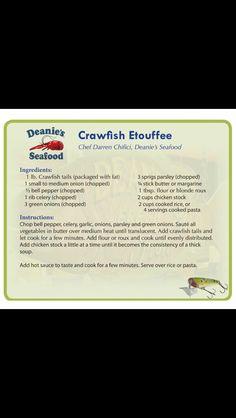 Crawfish Etoufee from Deanie's Crawfish Etoufee Recipe, Etouffee Recipe, Crawfish Recipes, Crawfish Etouffee, Cajun Recipes, Seafood Recipes, Cooking Recipes, Cajun Dishes, Seafood Dishes