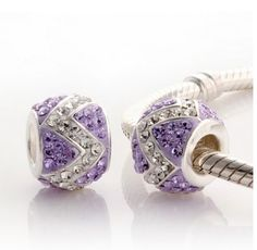 Purple Bottom White W CZ Crystals Charm 925 Sterling Silver Pandora Compatible Pandora Beads, Pandora Bracelet Charms, Pandora Jewelry, Charm Bracelets, Pandora Purple Charms, Pandora Uk, Pandora Compatible Charms, Chamilia Jewelry, Medieval Jewelry