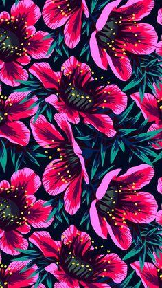 bold color flower pattern