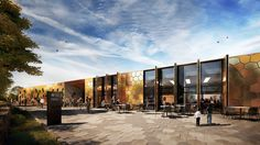 Updated artist's impression of The Royal Mint Visitor Centre - April 2015