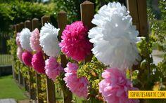 Como fazer flor de papel de seda - Como fica 2                                                                                                                                                                                 Mais