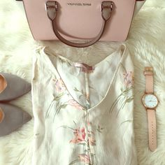 Forever 21 Silky Top Forever 21 relaxed silky top with drawstring waist. Floral print atop cream base. Perfect top for spring! Forever 21 Tops Blouses