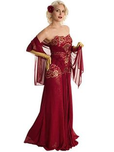 Strapless Beaded Burgundy Old Hollywood Glamour Evening Dress Hollywood Fashion, Old Hollywood Style, Old Hollywood Glamour, Vintage Outfits, Vintage Inspired Outfits, Vintage Fashion, Chiffon Evening Dresses, Chiffon Dress, Purple Dress