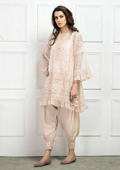 Lotta Stensson Batik Petite Poncho in Powder Pakistani Couture, Pakistani Outfits, Indian Outfits, Lace Kimono, Kimono Cardigan, Floral Kimono, Nikkah Dress, Mode Hijab, Indian Designer Wear