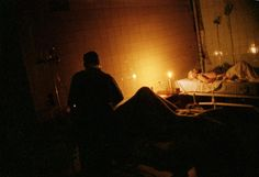 Grozny hospital #9.  There is no electricity, water or supplies. During Russia's second war in Chechnya. 10/1999.