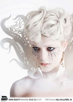 20 Trendy ideas for makeup dark fantasy ice queen Costume Halloween, Halloween Makeup, Fantasy Make Up, Dark Fantasy, Snow Queen, Ice Queen, High Fashion Makeup, Fashion Art, Dark Beauty Magazine