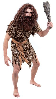 Caveman Adult Costume - Caveman Costumes  sc 1 st  Pinterest & DIY: No- sew Caveman Costumes | The Hood Magazine Pillowcase costume ...