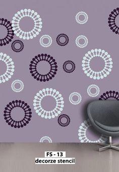Wall Stencils Circling Elements Stencils by royaldesignstencils ...