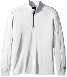 PGA TOUR Men's Elements Long Sleeve Water Repellent 1/4 Zip Mock Sweater