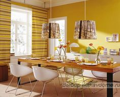 Find that perfect yellow for your kitchen with Colorhouse hues in the GRAIN and ASPIRE color families. Yellow Kitchens, Families, Warm, Contemporary, Table, Furniture, Color, Home Decor, Decoration Home