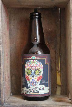 Home Brew Customized Beer Label  Dia de la by orangeladybird