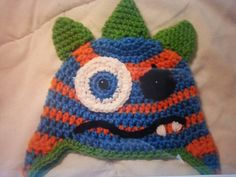 Check out this item in my Etsy shop https://www.etsy.com/listing/207159206/little-monster-hat-hand-crocheted