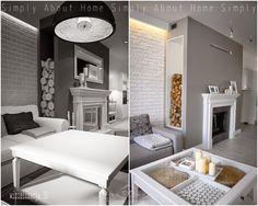simply about home: Od wizualizacji do realizacji Interior Design Projects, Interior, Home, Alcove Bathtub, Simply Home, Fireplace, Bathtub