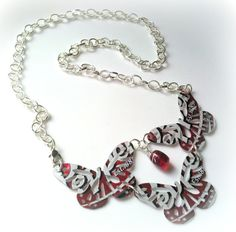 Dr Pepper Upcycled Soda Can Butterfly Necklace by AbsoluteJewelry, $12.00