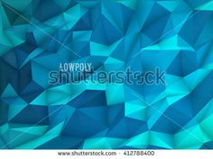 Polygon, Low Poly, Abstract Mosaic Background - stock vector
