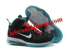 the best attitude da65f dad6d cheap new Nike Lebron 9 Black White Blue clearance