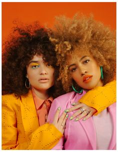 Diana Veras (L) wears a Marc Jacobs Spring Polo photographed by Adrienne Raquel, Styled by Christine Nicholson for Nylon Magazine Editorial Photography, Photography Poses, Fashion Photography, Beauty Photography, Photography Hashtags, Iphone Photography, People Photography, Afro, Art Visage
