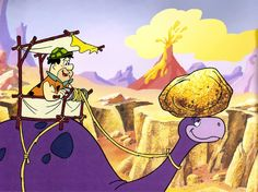 The Flintstones- Fred at the rock quarry