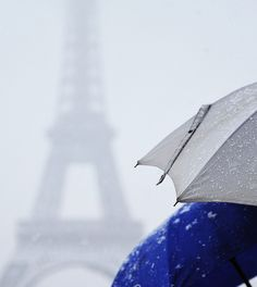 La tour eiffel sous la neige ~ Paris by . ADRIEN ., via Flickr