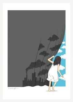 imagenes animadas de la contaminacion del aire
