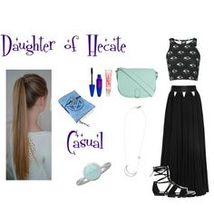 Daughter of Hecate outfit Hades Percy Jackson, Percy Jackson Outfits, Dress Outfits, Kids Outfits, Dresses, Galaxy Outfit, Fashion Infographic, Accesorios Casual, Fandom Fashion