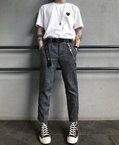 Retro Outfits, Cool Outfits, Casual Outfits, Fashion Outfits, Vintage Outfits, Fashion Tips, Korean Fashion Men, Retro Fashion Mens, Vetement Fashion