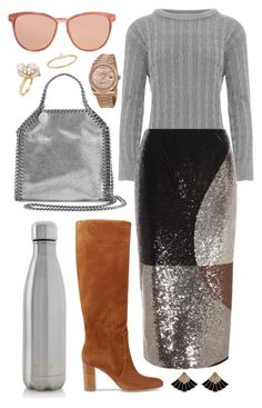 """""""Sequin Colorblock"""" by cherieaustin ❤ liked on Polyvore featuring STELLA McCARTNEY, WearAll, Gianvito Rossi, Tom Ford, S'well, Rolex, Linda Farrow, Ross-Simons and EF Collection"""