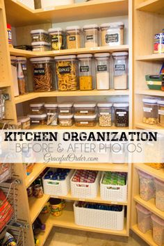 Kitchen Organizing – Before and After Photos  http://gracefulorder.com/2013/08/03/kitchen-organizing-before-and-after-photos/