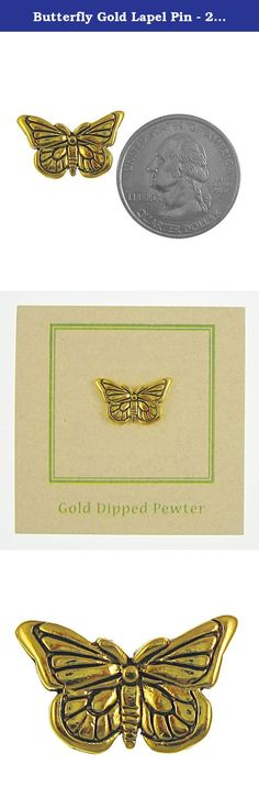 Butterfly Gold Lapel Pin - 25 Count. Both butterflies and moths belong to the order lepidoptera. In Greek, this means scale wing. Handcast in solid, lead-free pewter, each of our pins is an original three dimensional sculpture signed by the artist, Jim Clift. Individually packaged on one of our signature presentation cards, our pins arrive ready for gift giving! Handcrafted in our studio in Coventry, RI, our pins are 100% US made.