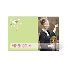 """Danksagungskarte Konfirmation """"Von Herzen"""""""