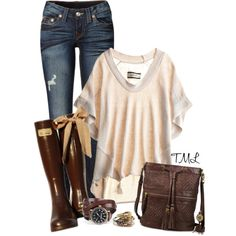 """Poncho"" by tmlstyle on Polyvore"