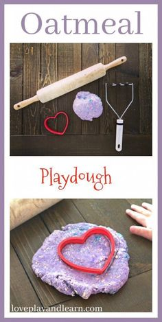 Easy Oatmeal Playdough Recipe is Great for Sensory Play! You won& need to worry about your child putting it in their mouth and it has a great texture. Activities For 1 Year Olds, Sensory Activities Toddlers, Playdough Activities, Home Activities, Infant Activities, Young Toddler Activities, Babysitting Activities, Nutrition Activities, Spring Activities