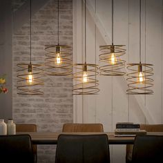 This trendy ceiling light has a twisted metal caps in combination with a metal frame. The caps are finished with a charcoal finish. The fixture and the shade give this lamp a playful contemporary look. Interior Design Tips, Industrial Ceiling Lights, Retro Table Lamps, Retro Floor Lamps, Retro Ceiling Lights, Urban Industrial Decor, Loft Designs, Affordable Design, Ceiling Lights